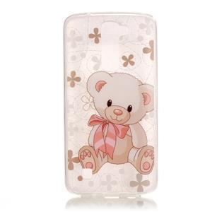 Průhledný gelový obal na telefon LG K8 - medvídek - 1