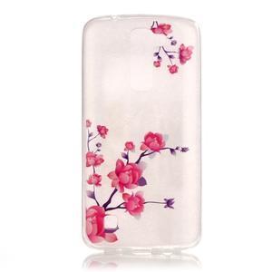 Průhledný gelový obal na telefon LG K8 - kvetoucí větvička - 1