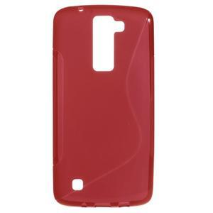 S-line gelový obal na LG K8 - červený - 1