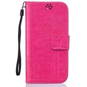 Dandelion PU kožené pouzdro na mobil LG K8 - rose - 1