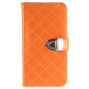 Luxusní PU kožené pouzdro s přezkou na LG K8 - oranžové - 1