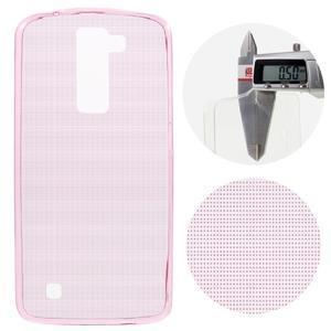 Ultratenký gelový obal na mobil LG K8 - růžový - 1