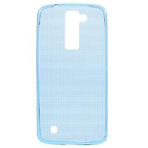 Ultratenký gelový obal na mobil LG K8 - modrý - 1