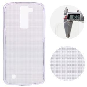 Ultratenký gelový obal na mobil LG K8 - fialový - 1