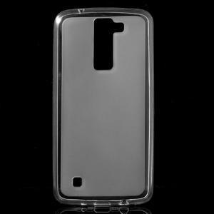 Matný gelový obal na mobil LG K8 - transparentní - 1