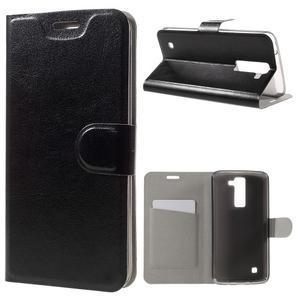 Horse PU kožené pouzdro na mobil LG K8 - černé - 1