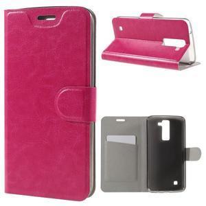 Horse PU kožené pouzdro na mobil LG K8 - rose - 1