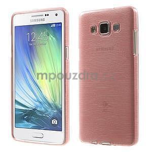 Broušený gelový obal Samsung Galaxy A5 - růžový - 1