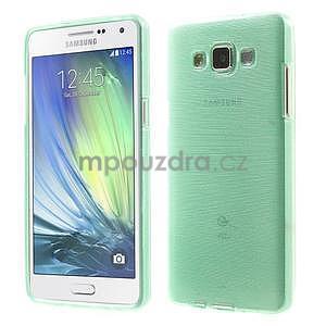 Broušený gelový obal Samsung Galaxy A5 - cyan - 1