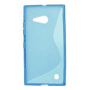 Gelový s-line obal na Nokia Lumia 730 a Lumia 735 - modrý - 1
