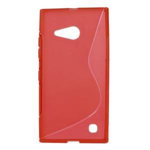 Gelový s-line obal na Nokia Lumia 730 a Lumia 735 - červený - 1