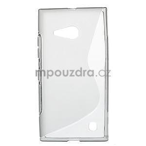 Gelový s-line obal na Nokia Lumia 730 a Lumia 735 - šedý - 1