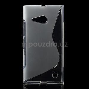 Gelový s-line obal na Nokia Lumia 730 a Lumia 735 - transparentní - 1