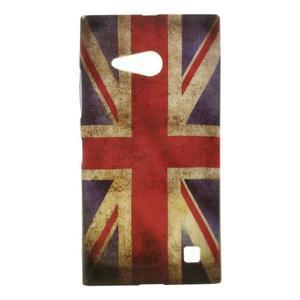 Gelové pouzdro na Nokia Lumia 730 a Lumia 735 - UK vlajka - 1