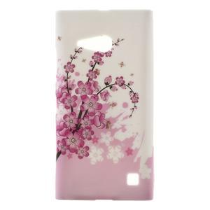 Gelové pouzdro na Nokia Lumia 730 a Lumia 735 - kvetoucí větvička - 1
