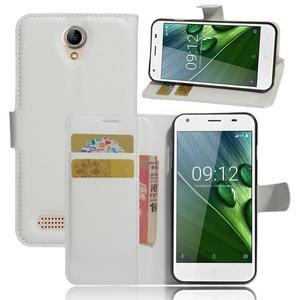 Wallet PU kožené klopové pouzdro na Acer Liquid Z6 - bílé - 1