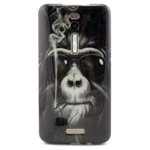 Gelový obal Asus Zenfone 2 ZE551ML - kouřící orangutan - 1