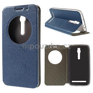 Modré klopové pouzdro s okýnkem na Asus Zenfone 2 ZE551ML - 1
