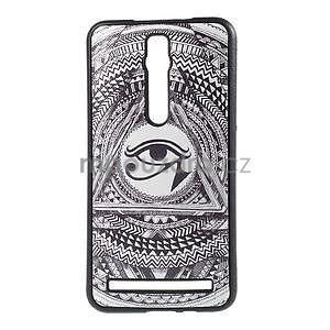 Gelový kryt s imitací vroubkované kůže pro Asus Zenfone 2 ZE551ML - egyptské oko - 1