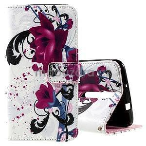 Zapínací peněženkové pouzdro na Asus Zenfone 2 ZE551ML - květiny - 1