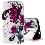 Zapínací peněženkové pouzdro na Asus Zenfone 2 ZE551ML - květiny - 1/7