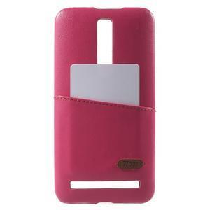Rose PU kožený/plastový kryt na Asus Zenfone 2 ZE551ML - 1