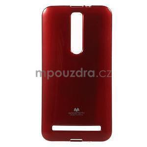Gelový obal na Asus Zenfone 2 ZE551ML -  tmavě červený - 1