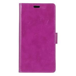 Crazy PU kožené pouzdro na mobil Asus Zenfone 4 Selfie Pro ZD552KL - fialové - 1