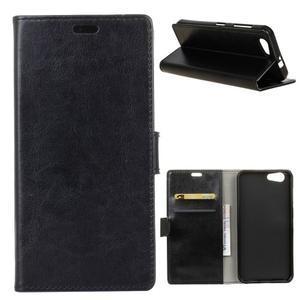 Stay PU kožené pouzdro na mobil HTC Desire 12 - černé - 1