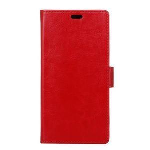 Stay PU kožené pouzdro na mobil HTC Desire 12 - červené - 1