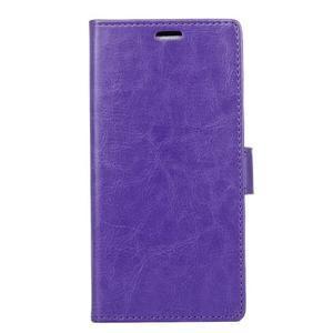 Stay PU kožené pouzdro na mobil HTC Desire 12 - fialové - 1