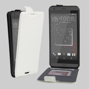 Flipové PU kožené pouzdro na HTC Desire 630 a Desire 530 - bílé - 1