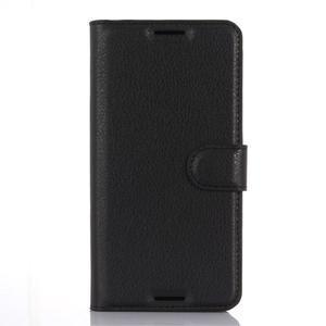 Wally PU kožené pouzdro na mobil HTC Desire 530 a Desire 630 - černé - 1