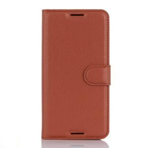 Wally PU kožené pouzdro na mobil HTC Desire 530 a Desire 630 - hnědé - 1