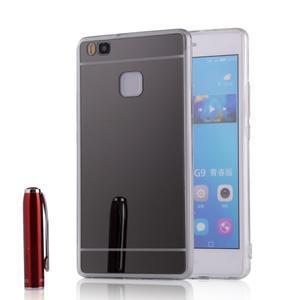 Zrcadlový gelový obal na Huawei P9 Lite - černý - 1