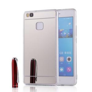 Zrcadlový gelový obal na Huawei P9 Lite - stříbrný - 1