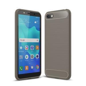 Fiber odolný silikonový obal pro Huawei Y5 (2018) - šedý