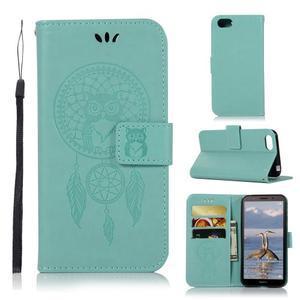 Dream PU kožené peněženkové pouzdro na mobil Huawei Y5 (2018) - zelené - 1