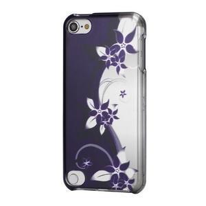 Safety plastové pouzdro 2v1 na iPod Touch 5 - fialové květy - 1