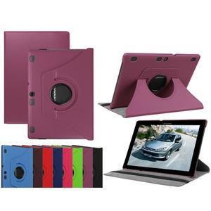 Otočné PU kožené pouzdro na Lenovo Tab 3 10 Plus - fialové - 1