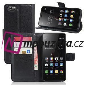 Grain peněženkové pouzdro na mobil Lenovo Vibe C A2020 - černé - 1