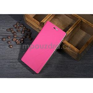PU kožené pouzdro na Lenovo Vibe X2 - rose - 1