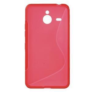 S-line gelový obal na Microsoft Lumia 640 XL - červený - 1