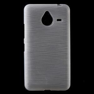 Gelový kryt s broušeným vzorem Microsoft Lumia 640 XL - bílý - 1