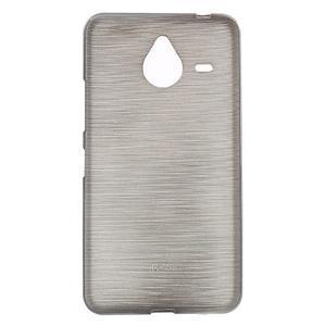 Gelový kryt s broušeným vzorem Microsoft Lumia 640 XL - šedý - 1