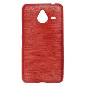 Gelový kryt s broušeným vzorem Microsoft Lumia 640 XL - červený - 1