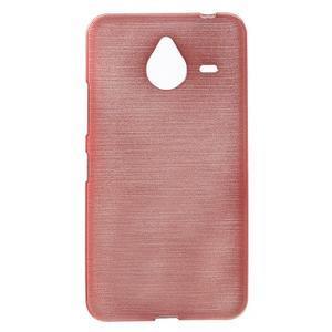 Gelový kryt s broušeným vzorem Microsoft Lumia 640 XL - růžový - 1