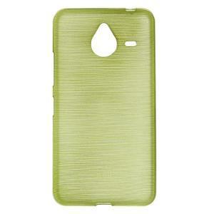 Gelový kryt s broušeným vzorem Microsoft Lumia 640 XL - zelený - 1