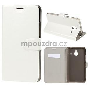 Peněženkové PU kožené pouzdro na Microsoft Lumia 640 XL - bílé - 1
