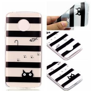 Emotive gelový obal na mobil Motorola Moto G6 Play - kočka - 1